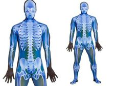 Adult Skeleton Lycra Bodysuit X-Ray Skeletons Fancy Dress Halloween Suit