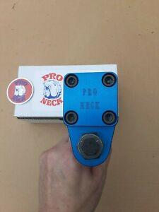 New PRO NECK 2021 Stem Blue Sticker BMX nos bar vintage post tuf neck old school