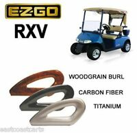 EZGO RXV Golf Cart Arm Rest Seat Rails Carbon Fiber, Woodgrain, Titanium
