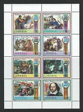 Liberia Sc#1060 A-H MNH Shakespearean Plays 1987