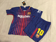 Barcelona Messi Home Kids Set Kit Youth Boys Child Soccer Jersey Medium 10-11 yr