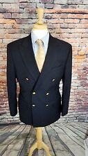 Jos A Bank Signature Collection 42R Navy Double Breast Gold BTN SportCoat Blazer