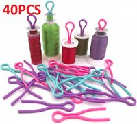 70Pcs Colorful Bobbin Thread Holders Organizer Buddies Clips Sewing Accessories