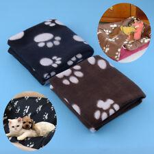Pet Cat Dog Puppy Winter Blanket Warm Beds Mat Cover Soft Fleece Paw Print