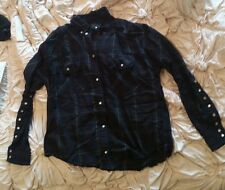 William Rast button down flannel with pearl detail Women's small