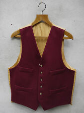 Traditional Ross Wool Waistcoat by Gurteen – 38-52in – UK Made - Burgundy Red