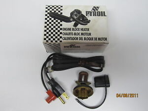 58-92 Ford GM Mopar Engine Block Heater Pyroil NORS 636
