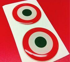 2 Adesivi Resinati Sticker 3D ITALIA target 30 mm