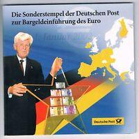 Deutsche Post  Medaillen Set  -- Euro Einführung  2002 -- 2x  20g  --- 999er AG