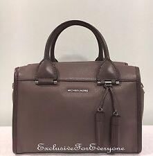 NWT Michael Kors Geneva Large Satchel Leather Cinder Handbag $378