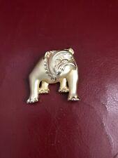 Signed AJC Golden Brooch Bulldog Dog, American Jewelry Company pin