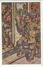 1. Weltkrieg, Kinder in Uniform, Eisenbahn, signiert Breithahn, Hessen-Trachten