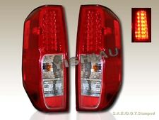 FIT FOR 2005-2013 NISSAN FRONTIER XE SE LE RED CLEAR LED TAIL LIGHTS LAMPS NEW