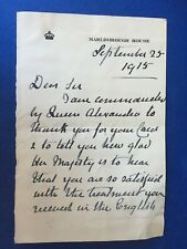 CHARLOTTE KNOLLYS - SECRETARY TO QUEEN ALEXANDRA - TWO PAGE SIGNED LETTER