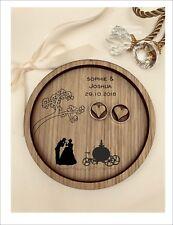 Wedding Ring Bearer Tray, Dish, Plate: Personalised Cinderella & Price Charming