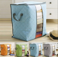 Foldable Clothes Blanket Quilt Closet Storage Bag Organizer Box Pouch Home S/L