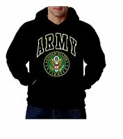 US Army Emblem Mens Sweatshirt, US Great Seal Army Pullover Hoodie