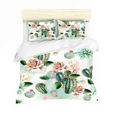 Pink Cactus Petals 3D Print Duvet Quilt Doona Covers Pillow Case Bedding Sets