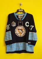 PITTSBURGH PENGUINS #87 SIDNEY CROSBY VTG REEBOK NHL HOCKEY JERSEY BOYS L/XL