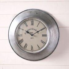 SPRINGHOUSE new Farmhouse round tin wall clock