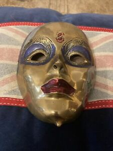 Brass Face Mask Ornament