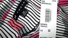 N Touch Women Plus 1x 2x 3x Black Plum Gray Tunic Top Blouse Shirt Retro