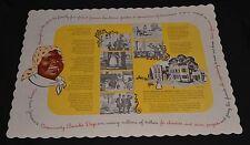 Vintage 1950s Aunt Jemima Pancakes Paper Placemat