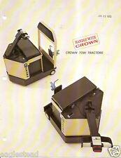 Fork Lift Truck Brochure - Crown - Walkie Stacker Tow Tractor 4 item (LT196)
