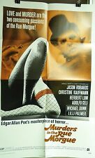 "VTG 1971 ""MURDERS IN THE RUE MORGUE"" US 1SH 27X41 FILM POSTER EDGAR ALLEN POE"