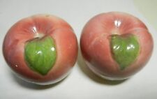 Handpainted Made in Japan Antique APPLE Porcelain Salt/ Pepper Shakers