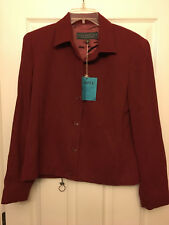 ALEX GARFIELD & MARKS Suit Coat  - Berry Moss Red Jacket - Size 8