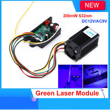 Fat Beam Steady DIY 200mW 532nm Green Laser Module Diode Lighting Stage DC12V/AC