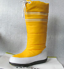 New LACOSTE Snug Puffy Yellow Boots Size 6 (Eur Size 37)