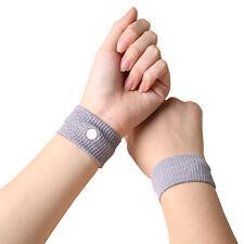 2x Nausea Anti Morning Sickness Motion Travel Sick Wrist Bands Car Sea