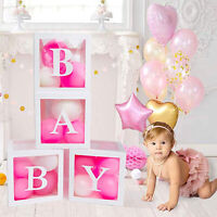 (US) Baby Shower Decorations | 4 pcs Baby Boxes | Gender Reveal, Girl Decoration