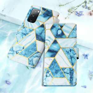 Case For Samsung S21 S20FE S9 S10 A51 Note 10 20Ultra Marble Leather Wallet Cove