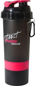 StartLine 600ml Protein Shaker Bottle Pink Leakproof Lid Exercise Gym Workout