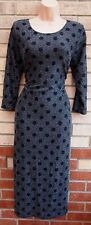 PRIMARK BLACK SILVER GLITTER SPOTTY SPARKLY BODYCON PARTY TUBE DRESS 16 XL