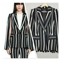 [ CUE ] Womens Cape Sleeves Striped Jacket  | Size AU 10 or US 6