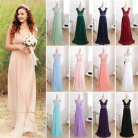 Ever-Pretty Beaded Long Bridesmaid Dress V-Neck Prom Party Evening Dresses 08697