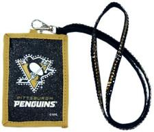 Pittsburgh Penguins Beaded Lanyard Wallet [NEW] NHL Jewelery Necklace ID Holder