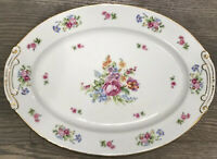 Beautiful Vintage Floral Tray By Sealy Japan, Nice Bright Colors Great Condition