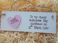 Wooden Godaughter Godson Keepsake Palque Gift Personalised