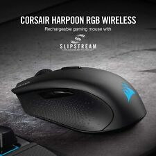 Corsair HARPOON RGB Wireless Rechargeable Gaming Mouse with SLIPSTREAM Technolog