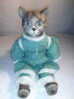 "Vintage 12"" Ashlea Original Cat Porcelain Doll Figure Design By Bette Ball 1986"