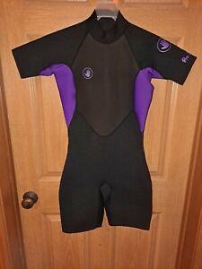 BODY GLOVE Women's Springsuit Wetsuit Pro 3 Size M Black Purple