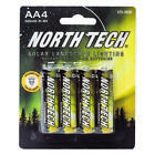 AA NORTH TECH RECHARGEABLE SOLAR LIGHT LANDSCAPE BATTERIES 1.2V 600 MAH NI-MH