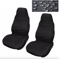 Car Seat Cover Waterproof Nylon Front 2 Protector Black for VW Golf Passat Fox