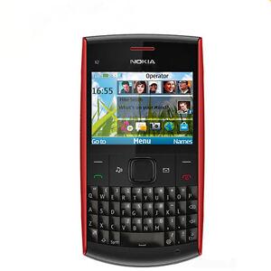 Original Unlocked Red Nokia X2-01 QWERTY Keypad Bar Mobile Phone