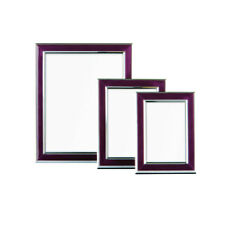 Premier Housewares Set of 3 Purple and Silver Photo Frames -from Argos on EBAY